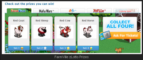 FarmVille zLotto Prizes