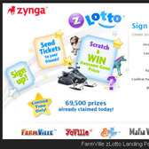 Zynga Lotto offers players free exclusive prizes in FarmVille, Mafia Wars, and more