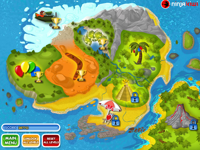 bloons 2 world map