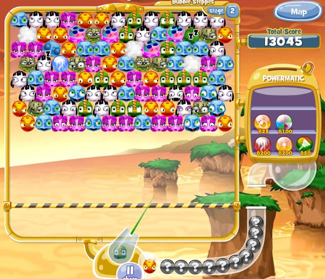 Bubble Town: Party Planet's gameplay