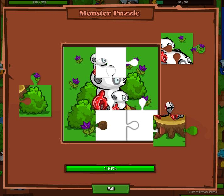 bush whacker puzzle monster puzzle