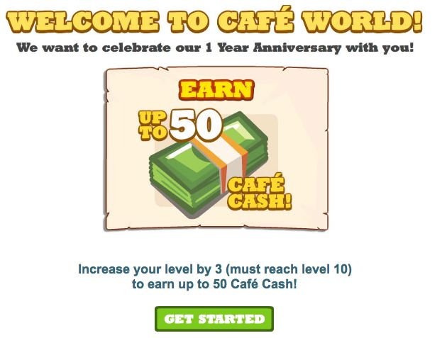 cafe world cash