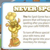Cafe World: The 24-hr Return of the 'No Spoil Genie'