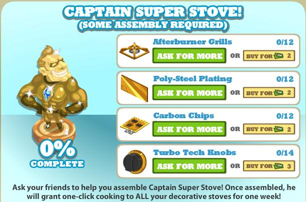 Captain Super Stove List