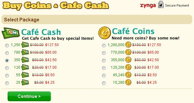 Cafe World Labor Day Sale Prices