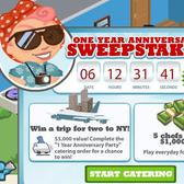 Cafe World One Year Anniversary Sweepstakes: Win a trip to New York or $1,000 cash