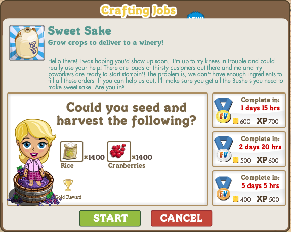 FarmVille Co-Op Crafting Jobs