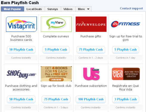 Earn Playfish Cash