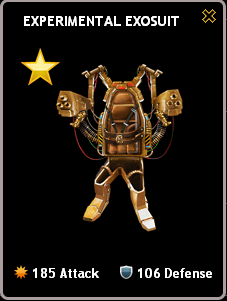 Mafia Wars Experimental Exosuit Gold Mastery