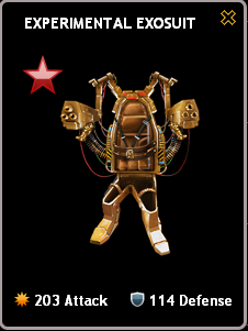 Mafia Wars Experimental Exosuit Ruby Mastery Real