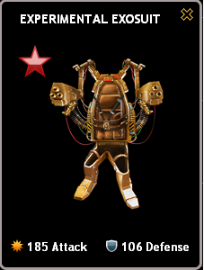 Mafia Wars Experimental Exosuit Ruby Mastery Bugged