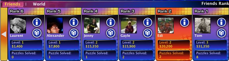 facebook game wheel of fortune friends leaderboard