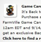 FarmVille Back to School Duck