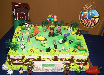 farmville birthday cake