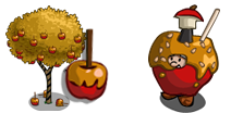 FarmVille Caramel Apple Tree and Caramel Apple Gnome