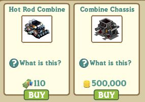 farmville combine chassis -- hot rod combine