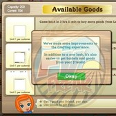 FarmVille upgrades Crafting Building user interface