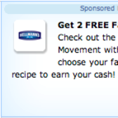 FarmVille Sponsored Link: 2 Farm Cash From Hellman's
