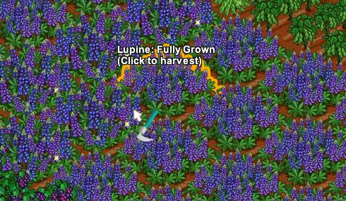 farmville lupine crop fully grown - games.com