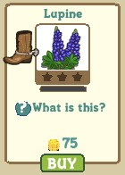 farmville limited edition flower crop lupine