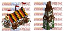 FarmVille Oktoberfest Tent and German Clock Tower