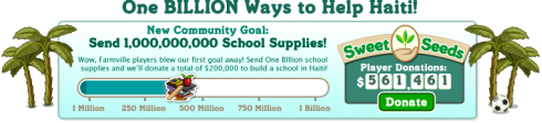 FarmVille: One Billion Ways to Help Haiti!