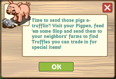 FarmVille Pig Found a Truffle