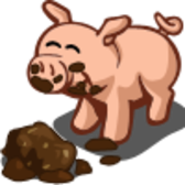FarmVille pigs with brown, black, white, &amp; gold truffles coming soon