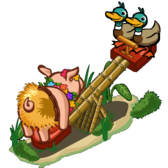 FarmVille Unreleased See Saw Pig, Owl Statue, Sheep Toys, & Cliffcorner Marvn