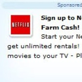 FarmVille Sponsored Link: Netflix for 100 FV$