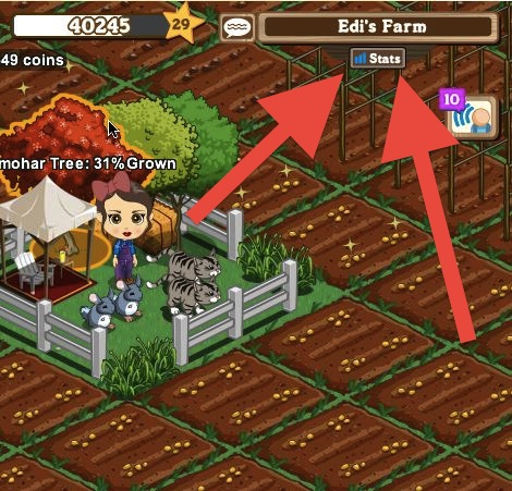 farmville stats icon
