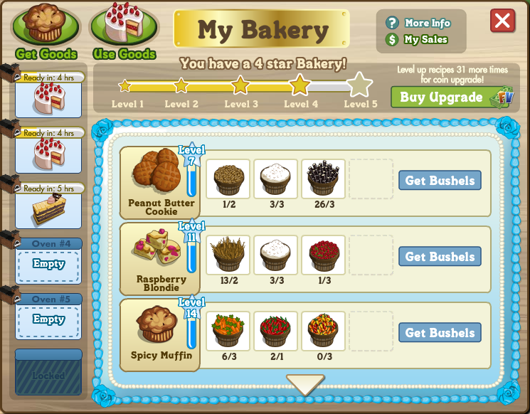 FarmVille Crafting Building UI