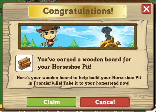 frontierville farmville boards horseshoe pit