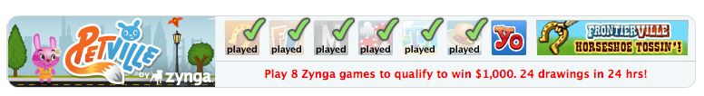 zynga 8-hour contest check the gamebar