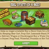 FrontierVille Decoration & Water Mystery Crates: Find out what 'cool stuff' is inside