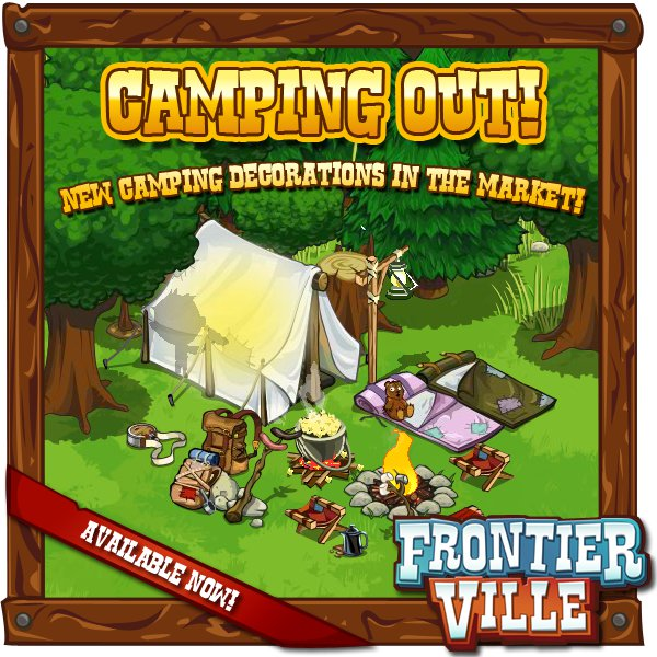 FrontierVille Camping Out Event