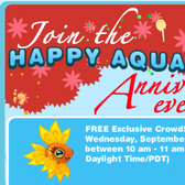 Happy Aquarium Anniversary Event offers free exclusive fish next week