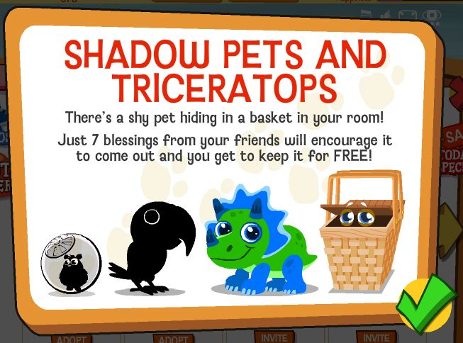 Happy Pets Shadow Pets and Triceratops