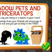 Happy Pets: Encourage the shy pet in your room for a new Shadow Pet