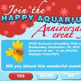 Happy Aquarium One Year Anniversary Event extended by five hours, more time to win an exclusive fish