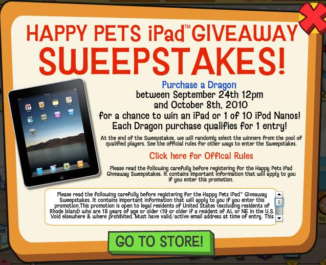 Happy Pets iPad Giveaway