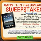 Happy Pets iPad Giveaway Sweepstakes: Every Dragon is a chance to win an iPad