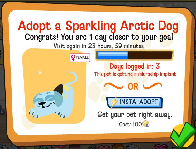 Happy Pets Sparkling Arctic Dog Announcment