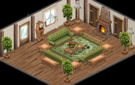 YoVille English Cottage Theme mock up