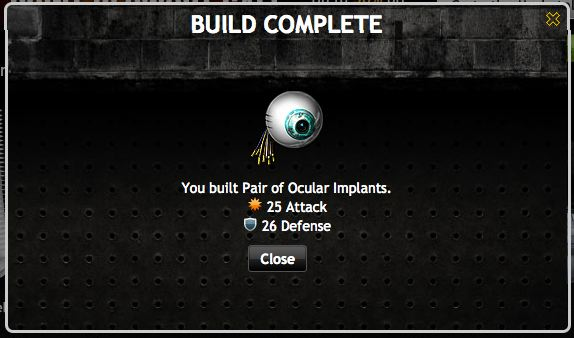 mafia wars armory ocular implants