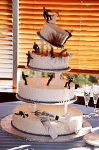 Mafia Wars Wedding Cake