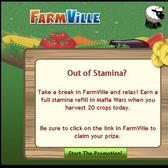 Mafia Wars: Harvest 20 FarmVille crops for a free stamina refill