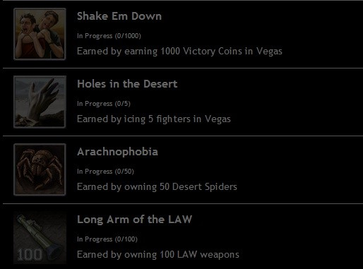 Mafia Wars Las Vegas Achievements 1