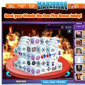 Mahjongg Dimensions wants you to send friends to the 'Fire Dimension'