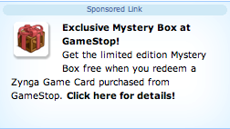 farmville gamestop free gift